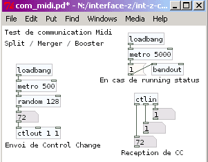 Communication Midi en Pure Data.